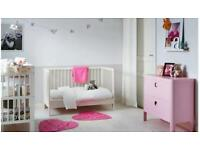 IKEA COT/ MATTRESS/ BEDDING BUNDLE, GULLIVER COT, VYSSA VINKA MATTRESS,