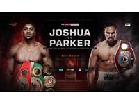 ANTHONY JOSHUA vs JOSEPH PARKER - SAT 31ST MARCH - PRINCIPALITY STADIUM CARDIFF