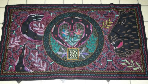 SHIPIBO PERU AMAZON INDIAN FULL EMBROIDERED CHITONTI #3