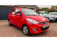 2012 Hyundai i10 Active 1.2 Petrol Manual 5 Door Hatchback Red