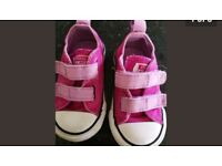 Pink converse baby size 4 £15.00