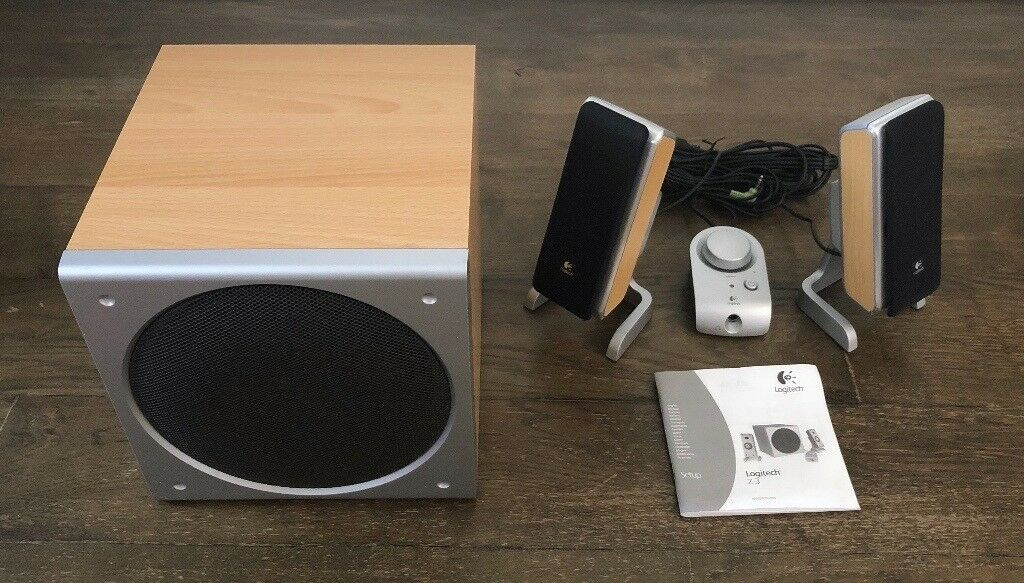 3bebfaa2920 Logitech Z3: 2.1 40W Speaker System - Wood & Silver Finish | in ...