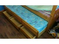 Bunk bed with guest bed and draws