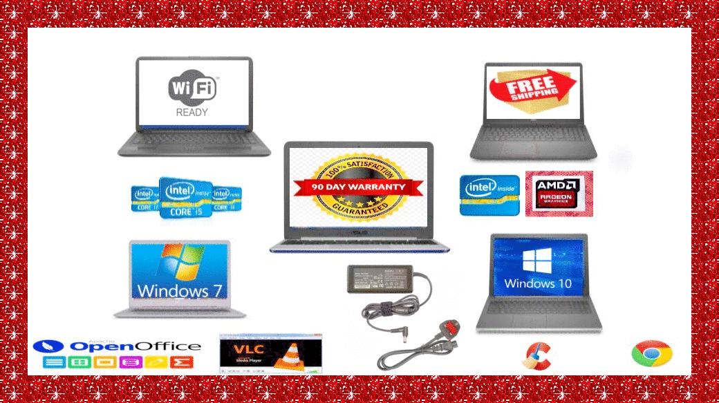 Laptop Windows - CHEAP FAST DUAL CORE, I3 I5 I7 LAPTOP WINDOWS 7 or 10 4GB 8GB 16GB RAM SSD & HDD
