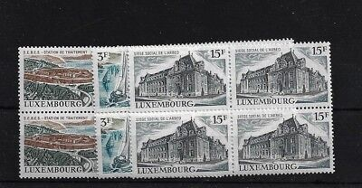 LUXEMBOURG SG876/8, 1971 LANDSCAPES SET IN MNH BLOCKS OF FOUR
