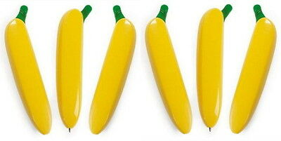 LOT OF 6 BANANA PENS FOR YOUR MONKEY PARTY,  LOW PRICE SUPER FAST SHIPPING!!