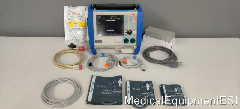 ZOLL M Series CCT BiPhasic 3lead ECG SpO2 NIBP AED ALS Pace Case Patient Monitor