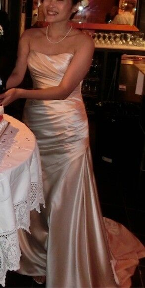La Spasa Fanal Wedding Dress Size 10 Oyster In Leicester