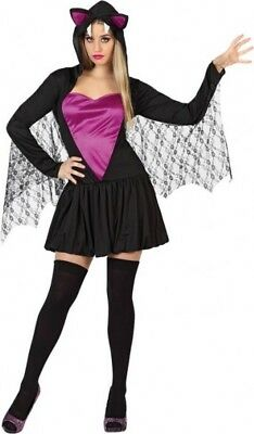 Déguisement Femme CHAUVE SOURIS M/L 40/42 Costume Halloween NEUF pas cher - Halloween Pas Cher