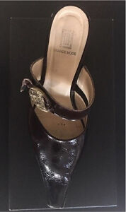 Brown Leather France Mode Wedge Heel Shoes St. John's Newfoundland image 2