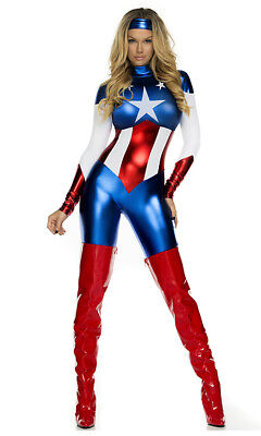 Amazing Womens Halloween Costumes (Forplay Astonishing Allegiance Superhero Adult Womens Halloween Costume)