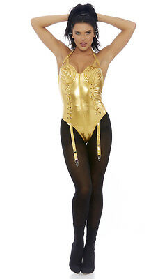 Forplay Take a Bow Pop Diva Singer Bodysuit Adult Halloween Costume 558776](Singer Halloween Costumes)