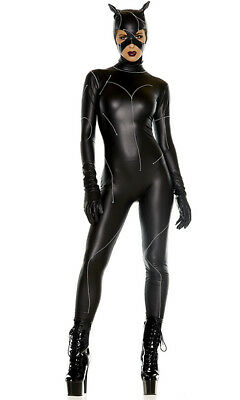 Forplay On The Prowl Villain Sexy Cat Adult Womans Halloween Costume 556500 (Forplay Halloween Costumes)