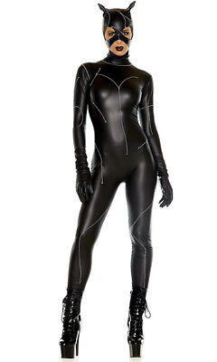 Forplay On The Prowl Villain Sexy Cat Adult Womans Halloween Costume 556500