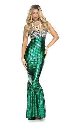 Forplay unter dem Meer Meerjungfrau Metallisch Erwachsene Damen Halloween Kostüm