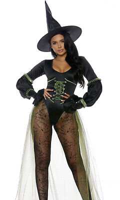 Forplay Westside Wicked Witch Bodysuit Sexy Adult Women Halloween Costume 559626 Adult Sexy Wicked Witch