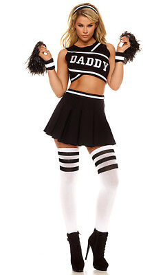 Forplay Daddy Cheerleader Dancer Sexy Adult Womens Halloween Costume - Sexy Adult Cheerleader Kostüm