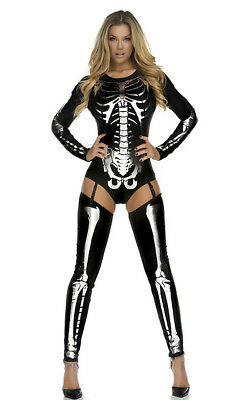Forplay Snazzy Skeleton Sexy Bodysuit Adult Womens Halloween Costume 554640