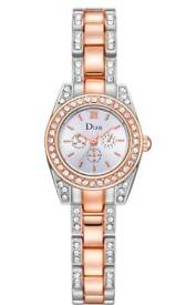New Ladies Alloy Bracelet Wrist Watch with Diamond Rose Gold And Silver