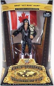WWE DEFINING MOMENTS - BRET HIT MAN HART Figure Canadian Stampede NIP Mattel