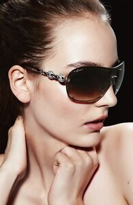 GUCCI crystal chain link sunglasses