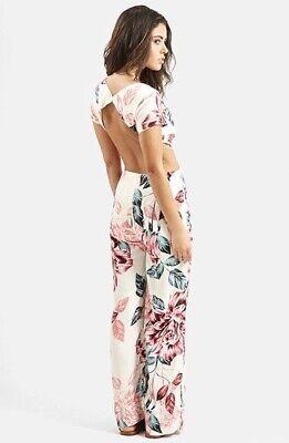 Kendal And Kylie Topshop Floral Jumpsuit Size10