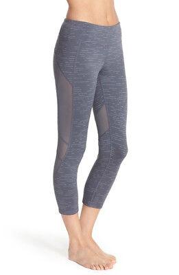 NWT Zella Fusion Crop Flare Capri Leggings Size: M Grey Graphite
