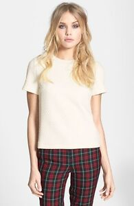Quilted White Tee (TOPSHOP) West Island Greater Montréal image 3