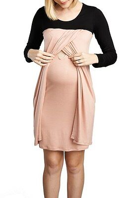NWT Maternal America Baby Doll Maternity/Nursing Dress - Size Medium  -