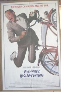 Poster for the movie Pee-wee's big adventure.