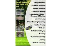 Man with a 4x4: Landscaping, gardening, removals, collections, maintenance, mowing