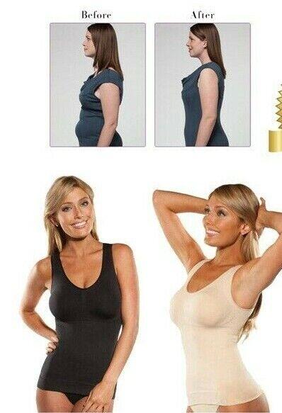NEU Damen Shapewear Bauchweg Unterhemd Mieder Top Formend Bodyformer