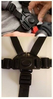 BOB REVOLUTION Stroller 5 Point Buckle Harness Clip Straps Replacement Parts NEW