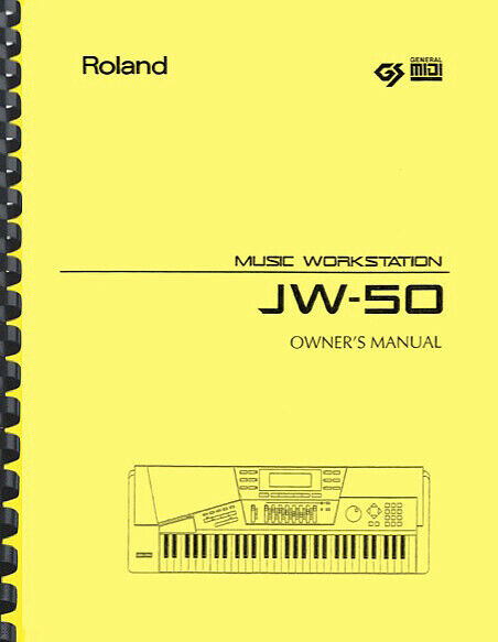 Roland JW-50 JW50 Music Workstation USER S MANUAL And SERVICE MANUAL - $24.95