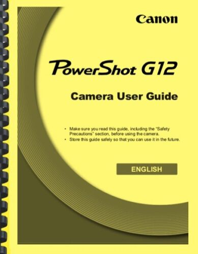 Canon Powershot G12 Camera User Guide Owner