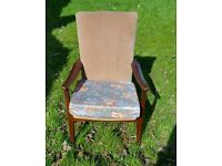 Parker knoll style easy chair with Danish style legs funky
