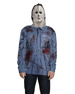 Faux Real Mike Myers Sublimated Photorealistic Hoodie Halloween Costume F151621