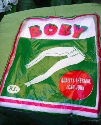 mens vintage long johns 60s deadstock BOBY quality thermal cotton  size L/XL