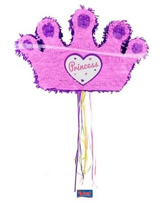 Pinata Krone Mexiko Party Candy Prinzessin Partyspiel Kindergeburtstag ()