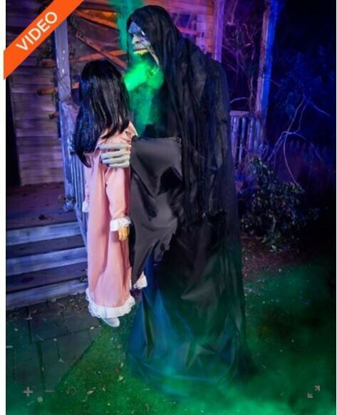 NEW, 6.3 Ft Harvester of Souls Animatronic Spirit Halloween & Sold Out