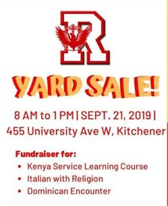 Rez Community fundraiser Garage Sale!