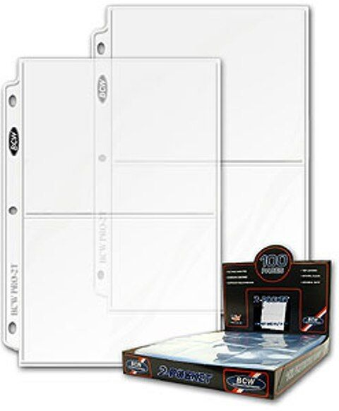 """-->100 5"""" x 7"""" 2 Pocket PRO Postcard Photo Album Refill Pages with Ultra Storage"""
