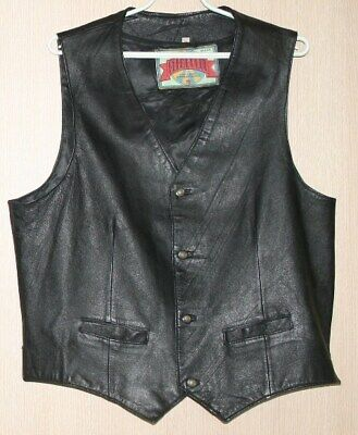 Men Leather Waistcoat Size L for sale  Shipping to Nigeria