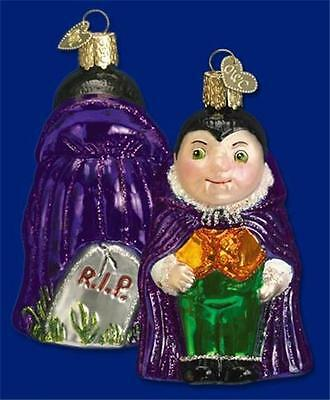 LI'L DRACULA OLD WORLD CHRISTMAS GLASS HALLOWEEN VAMPIRE ORNAMENT NWT 26025