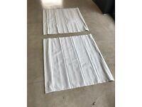 WHITE Cotton Roman Blind 1145w x 1090 drop