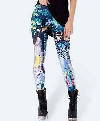 Grinsekatze Leggings XS-M Alice im Wunderland Cheshire Cat Alice in Wonderland ()