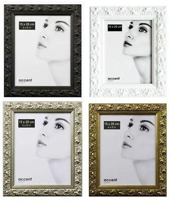 Nielsen Bilderrahmen Fotorahmen Vintage schwarz weiß silber gold aus Holz