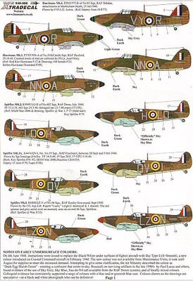 Xtradecal 1/48 Battle of Britain 70th Anniversary 2010 RAF 48086