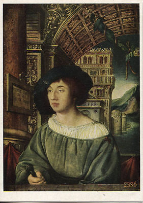 Alte Kunstpostkarte - Ambrosius Holbein - Bildnis eines jungen Mannes