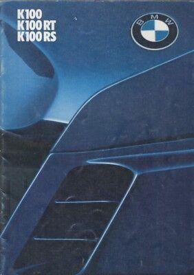 BMW K100 K100RT & K100RS ORIGINAL 1985 FACTORY UK SALES BROCHURE